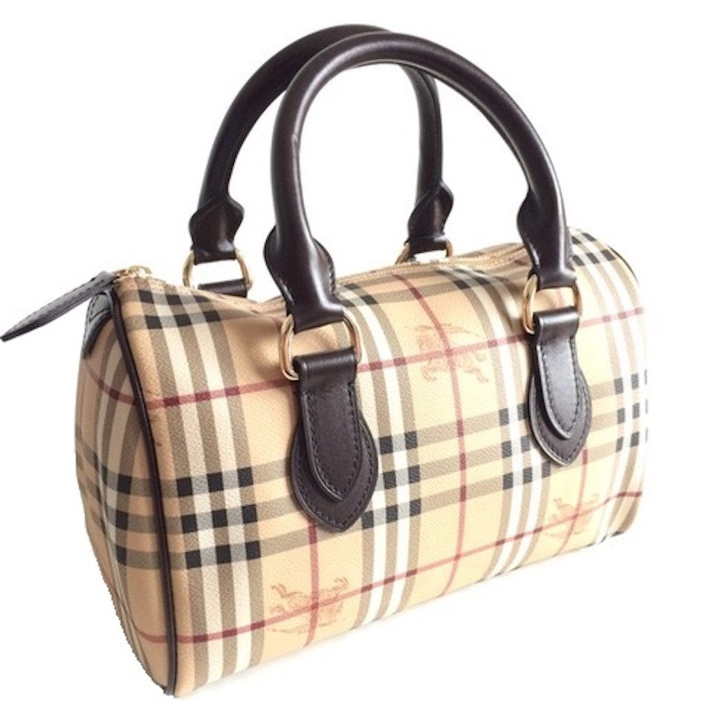 688cd12aa BURBERRY 3460094 MEDIUM HAYMARKET CHECK CHESTER BOWLING BAG ...