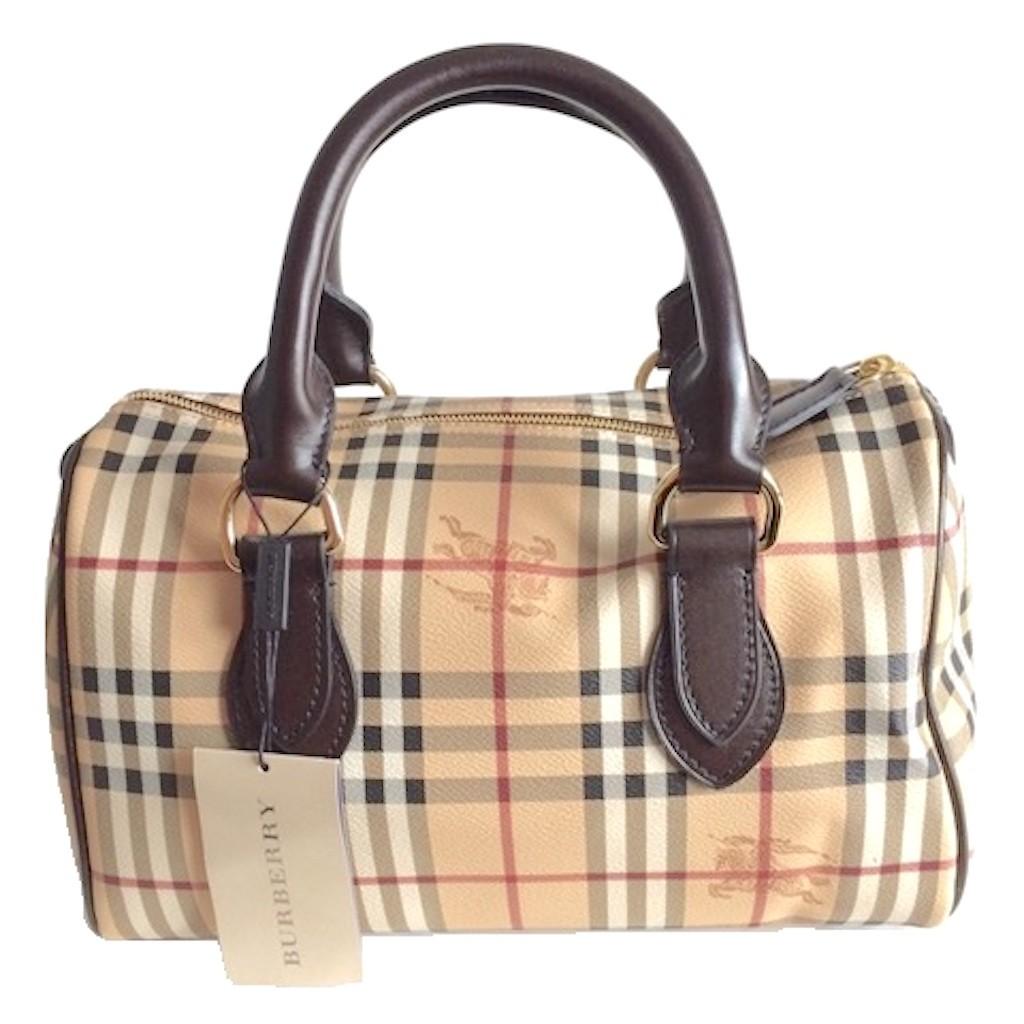 Burberry 3460094 Medium Haymarket Check Chester Bowling Bag
