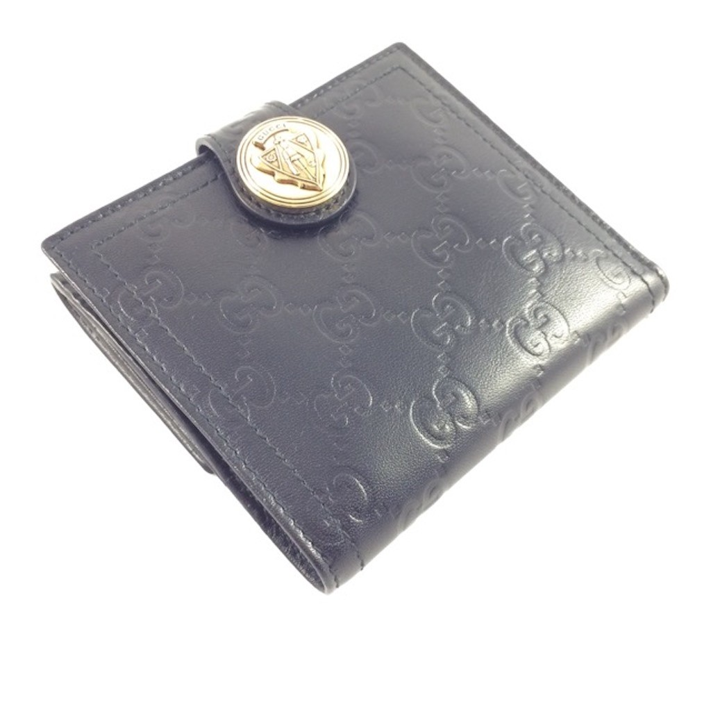 20d12bf6f6e GUCCI 190349-AA61G-1000 BLACK GOAT LEATHER CLASSIC GG LADY SHORT WALLET -  Wallets   Purses - Ladies