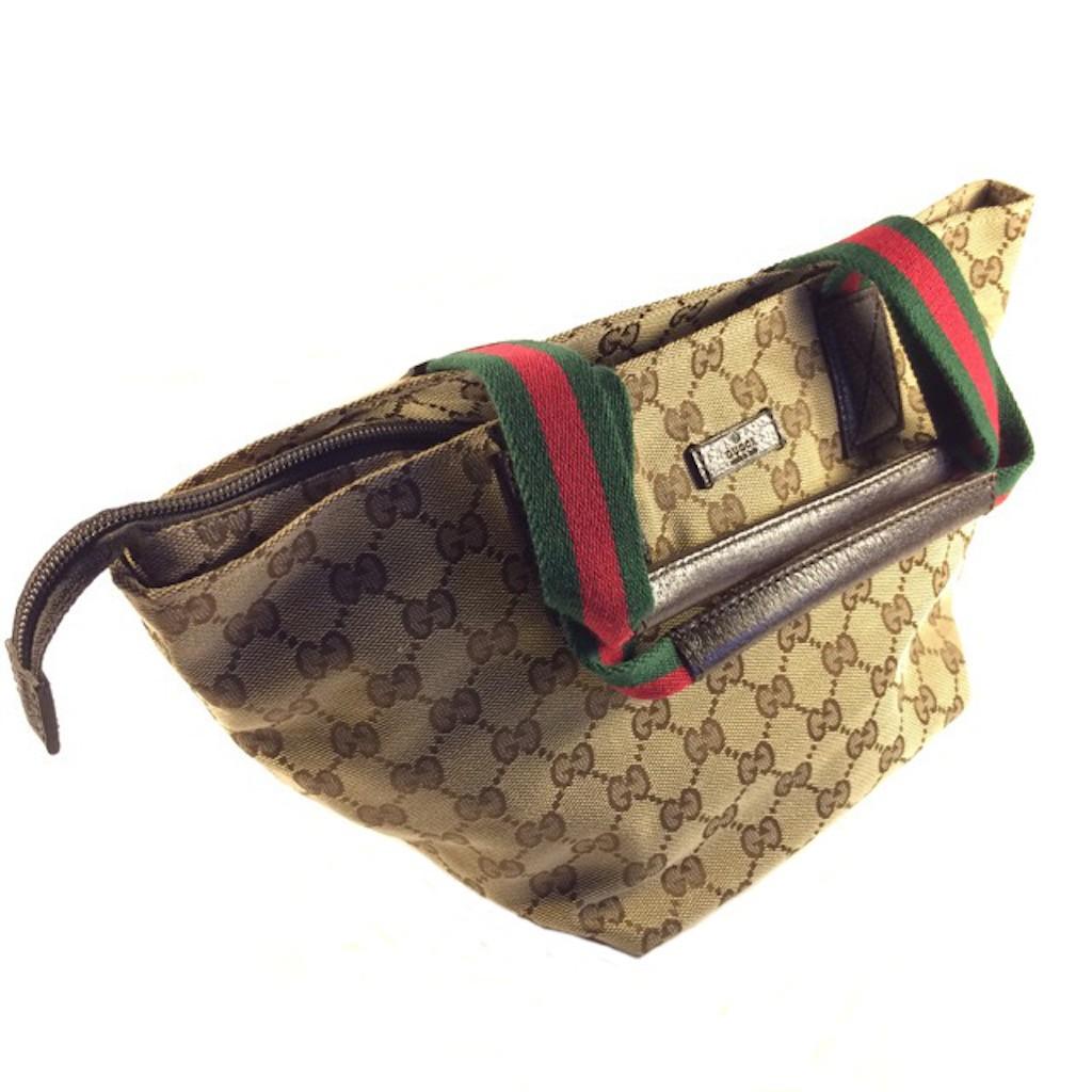 3b10117596fa GUCCI 131228-F4F5R-9791 BROWN CLASSIC GG SMALL TOTE BAG - Handbags - Ladies