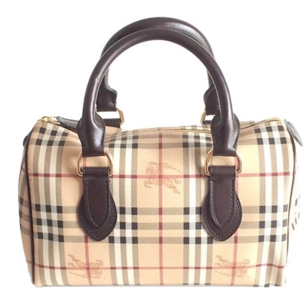 BURBERRY 3460094 MEDIUM HAYMARKET CHECK CHESTER BOWLING BAG ... 411d5bfe988fc