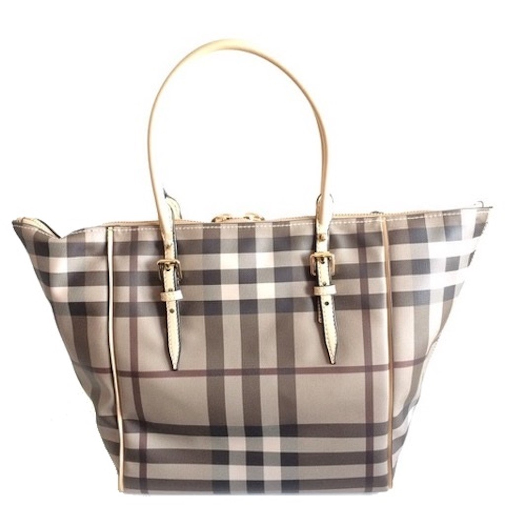 627bd5993 BURBERRY 3884126 LARGE CLASSIC BEIGE CHECK SALISBURY TOTE BAG