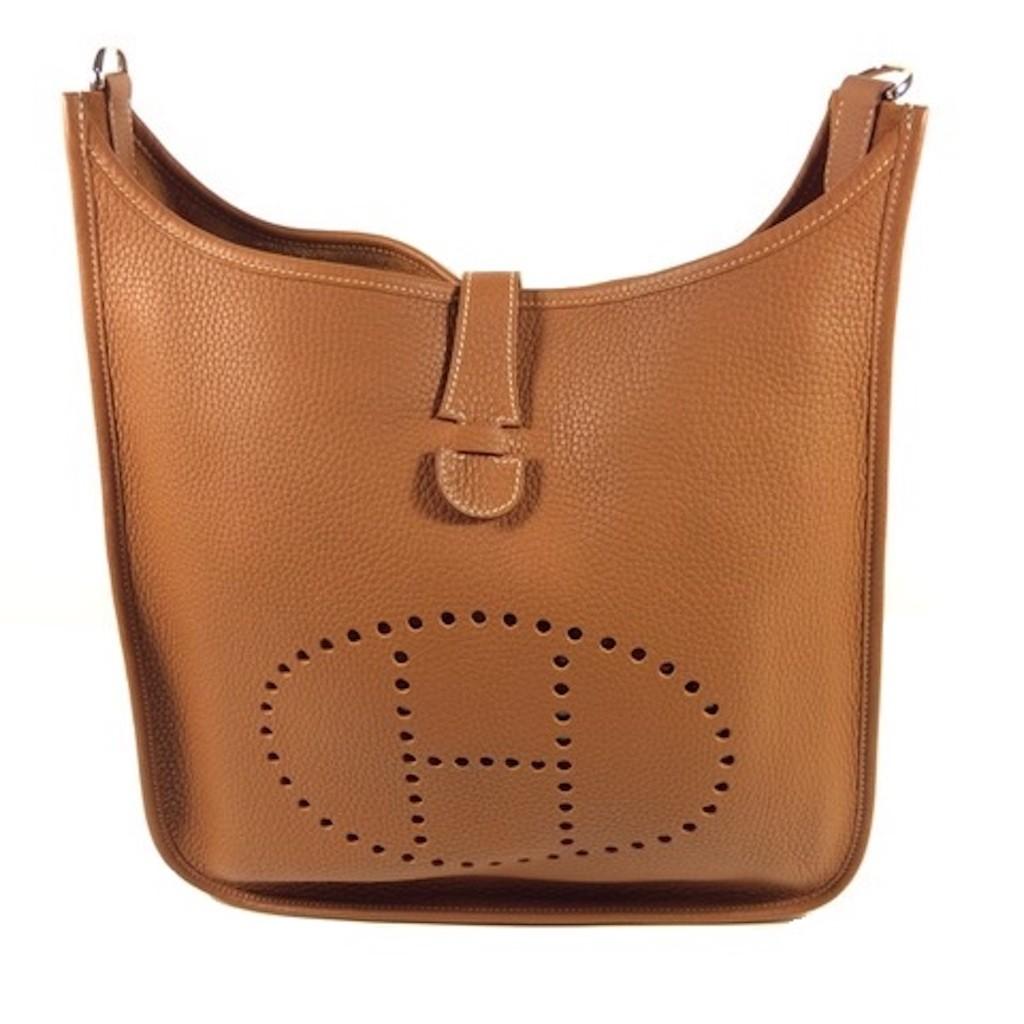 Hermes Evelyne Iii 33 Gold Colour Taurillion Clemence Leather H056275ck37 Shoulder Bag