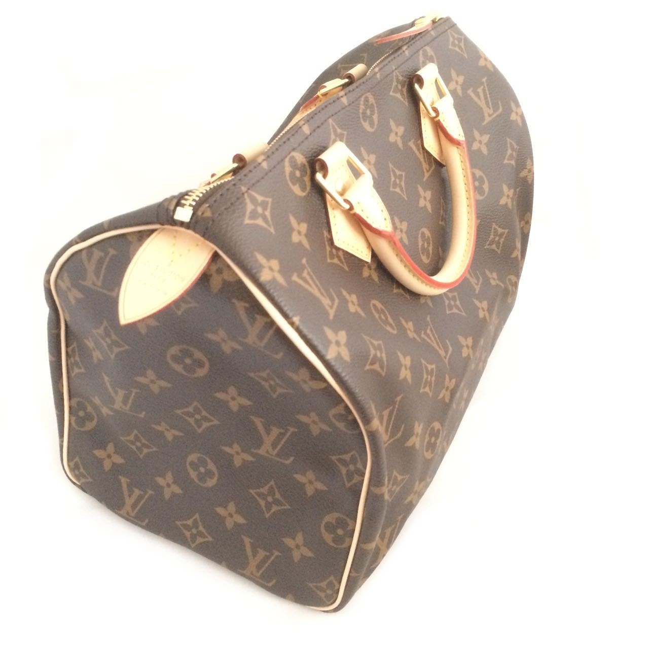 680c76940 LOUIS VUITTON M41108 SPEEDY 30 MONOGRAM CANVAS NON STRAP BOWLING HANDBAG