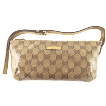 GUCCI 190393-FT0GG-9774 BROWN GG COSMETIC POUCH