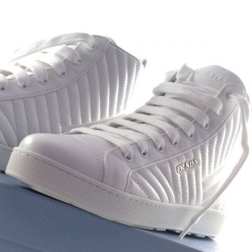 PRADA TRAINER NAPPA3 BIANCO 1T345I EU 40 UK 7