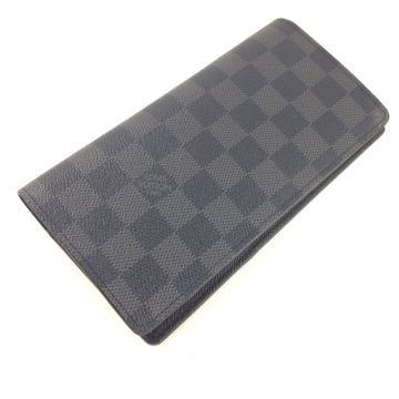 LOUIS VUITTON N62665 GRAPHITE DAMIER CANVAS BRAZZA WALLET