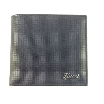 GUCCI 190429-BS00N-1000 BLACK CAVIAR MEN'S COIN WALLET