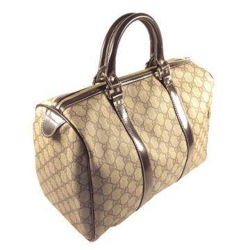 GUCCI 193603-FP1JG-8552 BROWN CLASSIC GG LADY BOWLING BAG