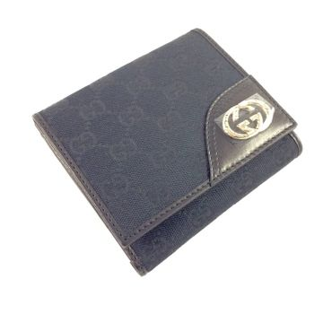 GUCCI 181594-FCEKG-1000 BLACK CLASSIC GG LADY SHORT WALLET