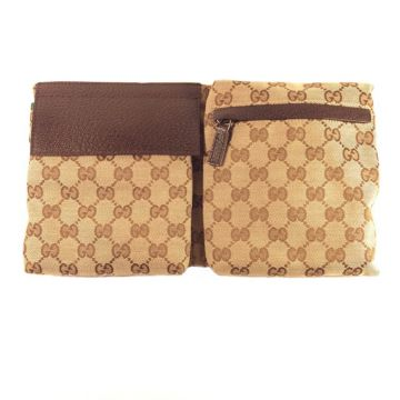 GUCCI 28566R-F4F0R-9791 BROWN CLASSIC GG TRAVELLERS WAIST POUCH