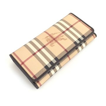 BURBERRY 3754670 ASHBY HAYMARKET CHOCOLATE COLOUR CONTINENTAL LONG WALLET