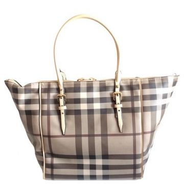 BURBERRY 3884126 LARGE CLASSIC BEIGE CHECK SALISBURY TOTE BAG