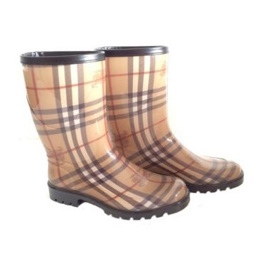 BURBERRY 3770889 HAYMARKET CHECKED MID RAINBOOT SIZE EUR 35