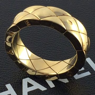 CHANEL COCO CRUSH MATELASSE RING IN 18K YELLOW GOLD SMALL VERSION SIZE 58