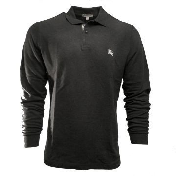 BURBERRY BRIT 3831960 LONG SLEEVE DARK CHARCOAL POLO SHIRT