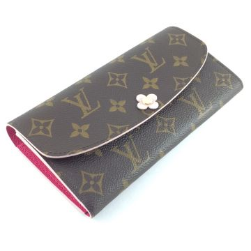 LOUIS VUITTON M64202 EMILIE LONG WALLET CANVAS MONOGRAM