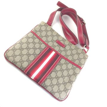 GUCCI 201538-FCIXG-8557 GUCCISSIMA GG MONOGRAM CANVAS FLAT MESSENGER BAG
