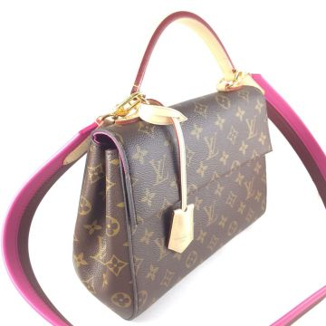 LOUIS VUITTON M42738 CLUNY BB MONOGRAM CANVAS CROSS SHOULDER HANDBAG
