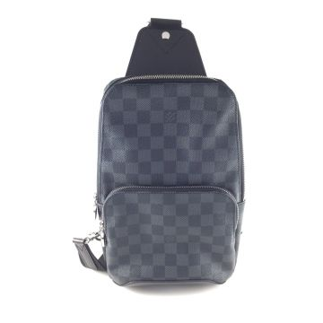 LOUIS VUITTON N41719 AVENUE GRAPHITE DAMIER CANVAS SLING BAG